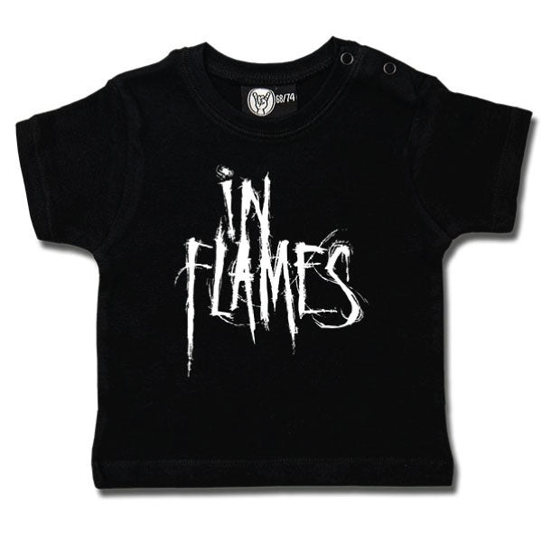 In Flames Baby T-Shirt - Black