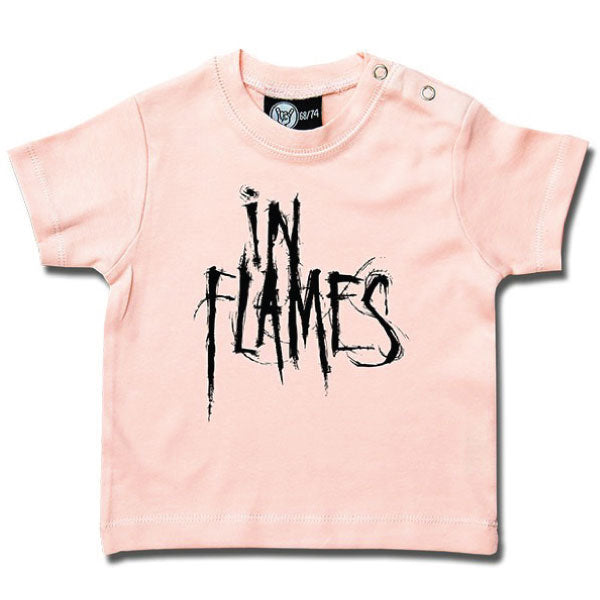 In Flames Baby T-Shirt - Pink