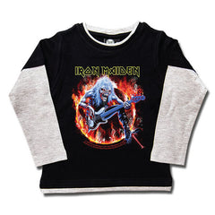 Iron Maiden Kids Long Sleeved T-Shirt - Eddie