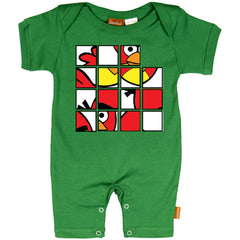 Bird Puzzle Baby Romper - Alternative Romper for Cool Kids