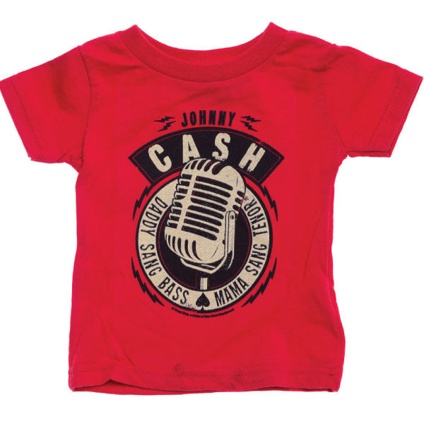 Johnny Cash Kids T-Shirt - Daddy Sang Bass