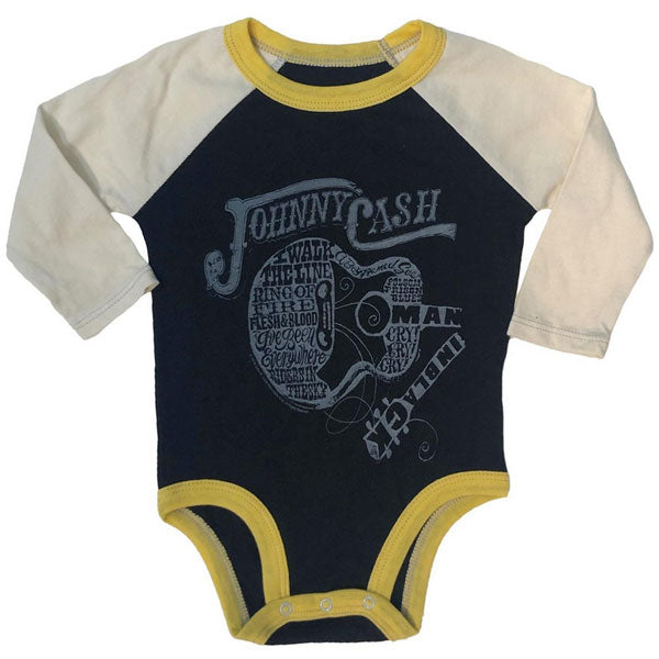 Johnny Cash Babygrow - Walk The Line