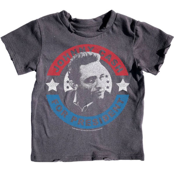 Johnny Cash Kids T-Shirt - Johnny Cash For President
