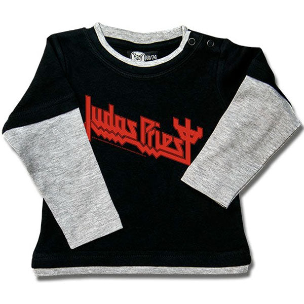 Judas Priest Long Sleeve Baby T-Shirt Logo - Black