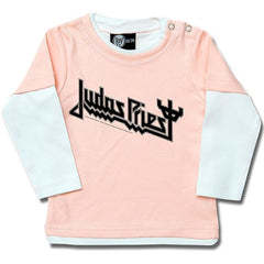 Judas Priest Long Sleeve Baby T-Shirt Logo - Pink