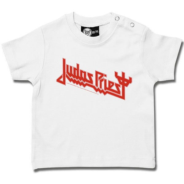 Judas Priest Baby T-Shirt Logo - White