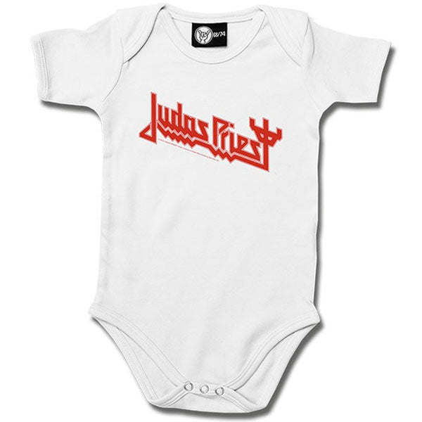 Judas Priest White Babygrow - Logo