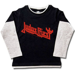 Judas Priest Long Sleeve Kids T-Shirt Logo - Black