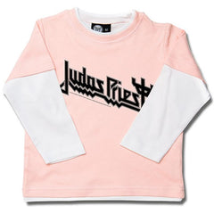 Judas Priest Long Sleeve Kids T-Shirt Logo - Pink