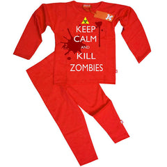 Keep Calm And Kill Zombies Kids Pyjamas