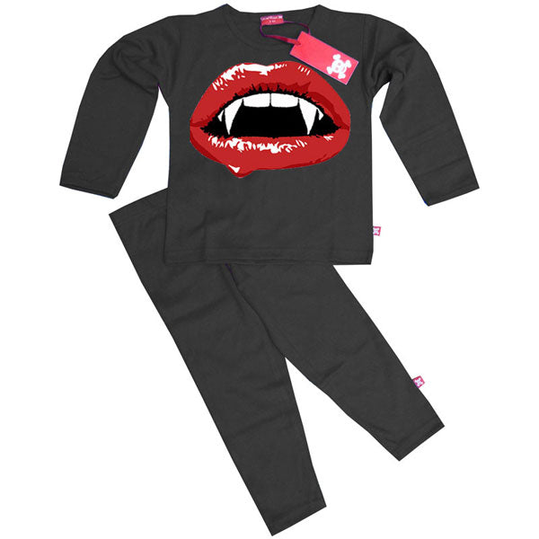 Vampire Lips Kids Pyjamas by Stardust