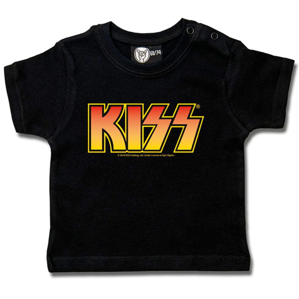 KISS Baby T-Shirt - Orange Logo