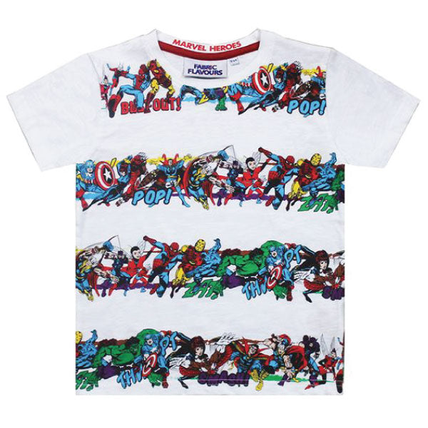 Marvel Heroes Kids T-Shirt - Marvel Heroes Stripe
