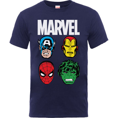 Marvel Kids T-Shirt - Marvel Hero Faces