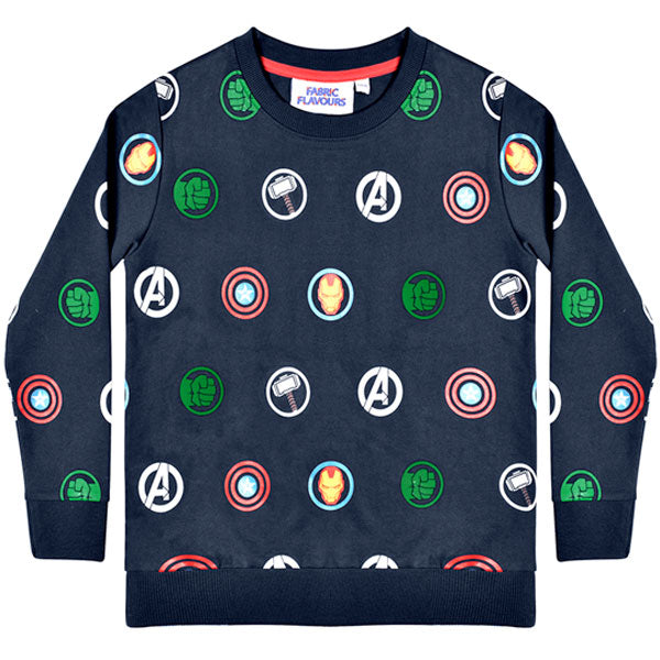 Marvel Kids Sweatshirt - Avengers Logos Repeat