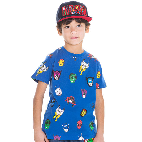 Marvel Kids T-Shirt - Marvel Heroes Repeat Print