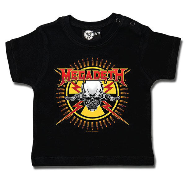 Megadeth Baby T-Shirt - Skull and Bullets