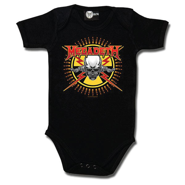 Megadeth Babygrow - Skull and Bullets