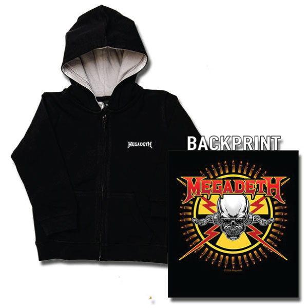 Megadeth Kids Hoody - Skull and Bullets