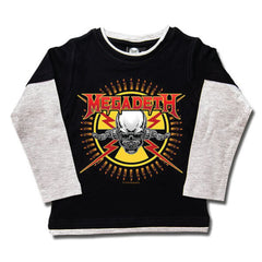 Megadeth Kids Long Sleeved T-Shirt - Skull and Bullets