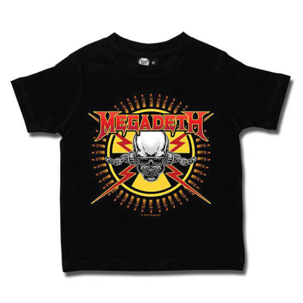 Megadeth Kids T-Shirt - Skull and Bullets