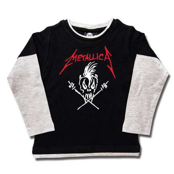 Metallica Kids Long Sleeve T-Shirt - Scary Guy Logo