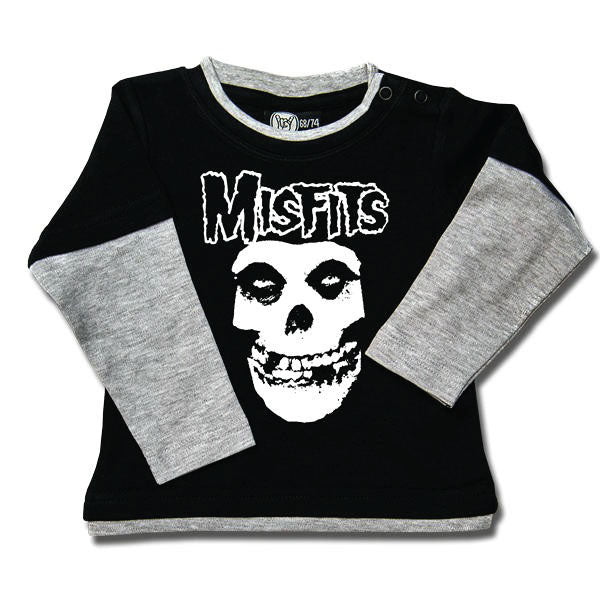 Misfits Punk Baby Long Sleeved T-Shirt - Skull Logo