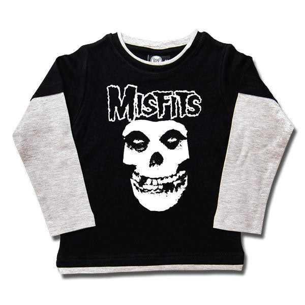 Misfits Punk Kids Long Sleeved T-Shirt - Skull Logo