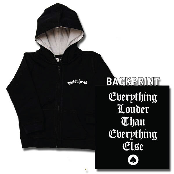 Motorhead Baby Hoody - Everything Louder Than Everything Else