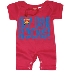My Dad Rocks Baby Romper by Stardust