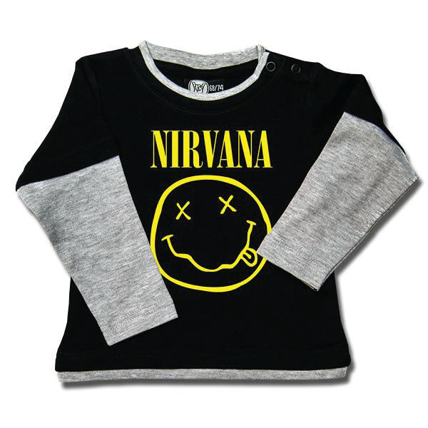 Nirvana Baby Long Sleeved T-Shirt - Smiley Face