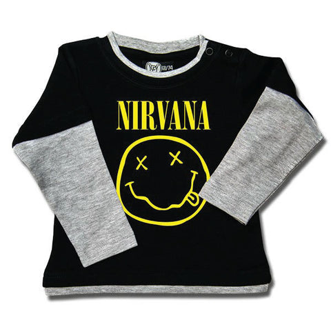 173a1d8759603 Nirvana Baby Long Sleeved T-Shirt - Smiley Face