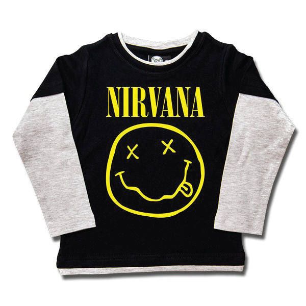 Nirvana Kids Long Sleeved T-Shirt - Smiley Face