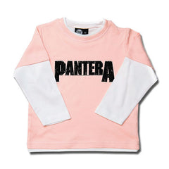 Pantera Kids Long Sleeved T-Shirt Logo - Pink/White