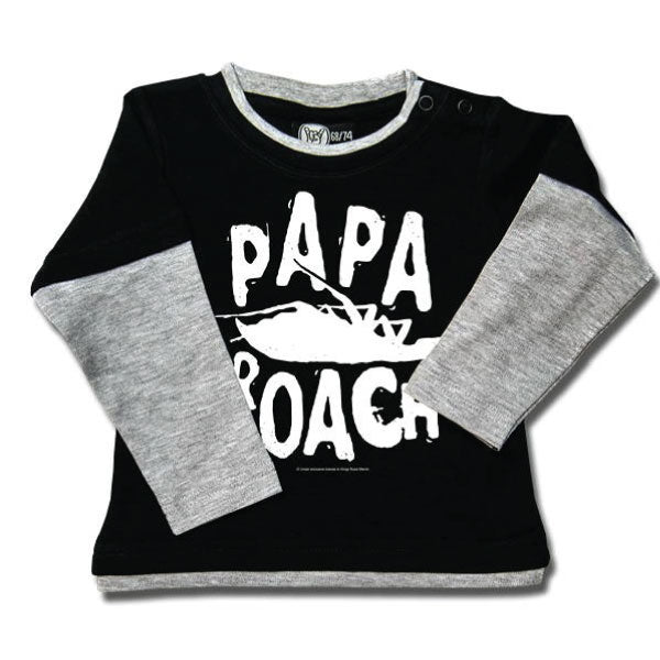 Papa Roach Baby Black Long Sleeve T-Shirt - Logo