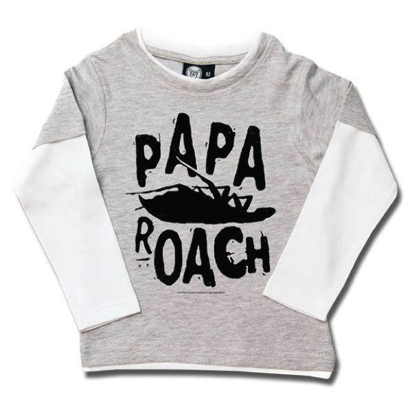 Papa Roach Kids Long Sleeve T-Shirt Grey - Logo