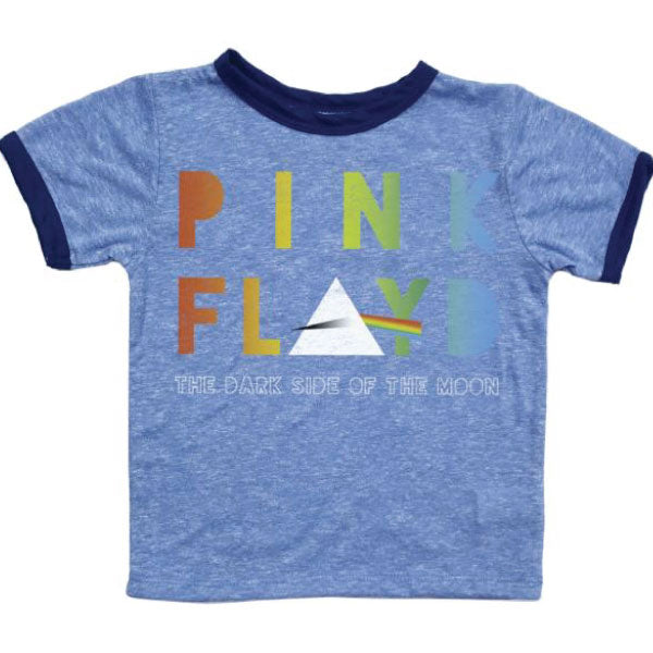 Pink Floyd Baby T-Shirt - Dark Side Of The Moon - Blue