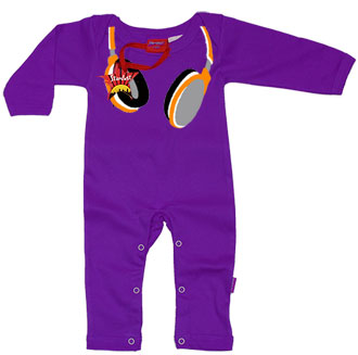 Headphones Baby Playsuit by Stardust