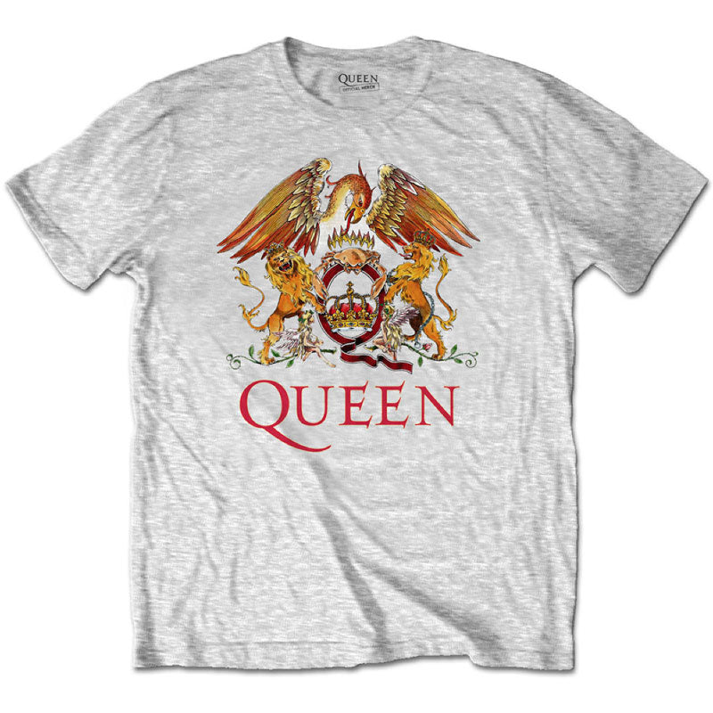 Queen Kids T-Shirt Grey - Classic Queen Crest