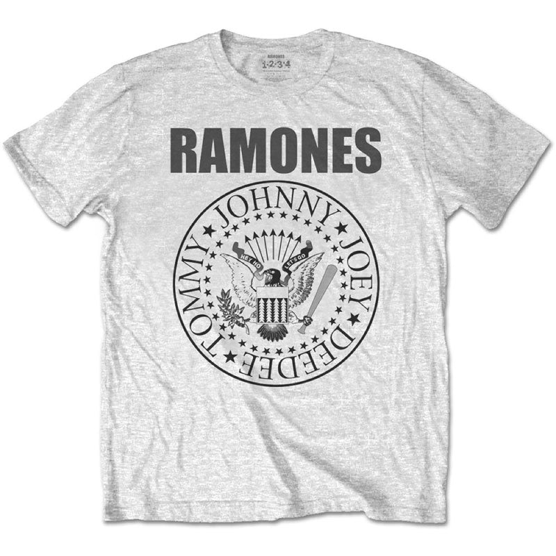 Ramones Kids T-Shirt - Ramones Presidental Seal - Light Grey T-Shirt