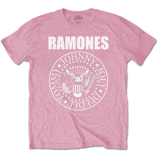 Ramones Kids T-Shirt - Pink Ramones Presidental Seal