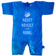 Resist, Revolt & Rebel Baby Romper by Stardust
