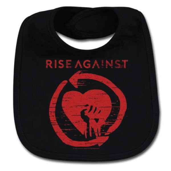 Rise Against Baby Bib - Black