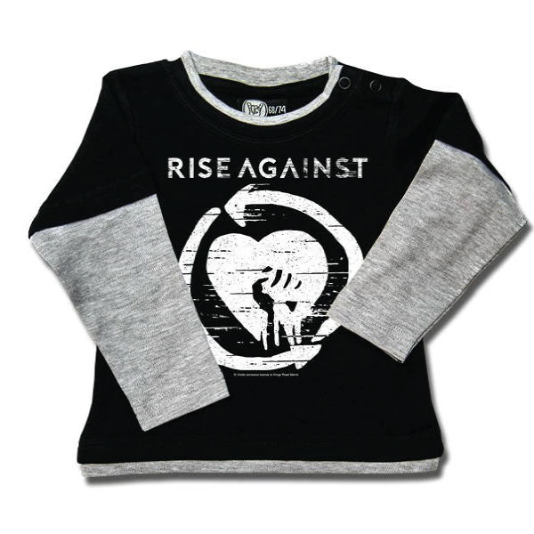Rise Against Baby Black Long Sleeve Tshirt - Logo