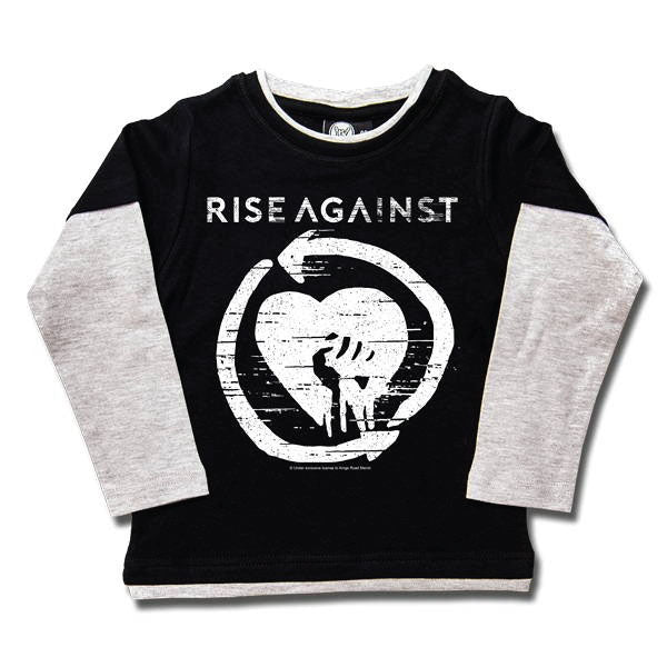 Rise Against Kids Black Long Sleeve T-Shirt - Logo