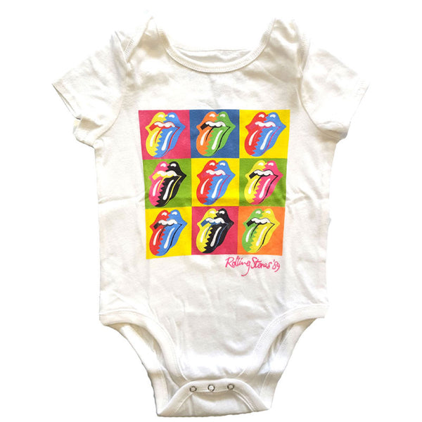 Rolling Stones Babygrow - Multicolour Tongues