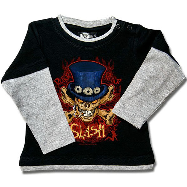 Slash Baby Long Sleeve T-Shirt - Skull and Crossbones