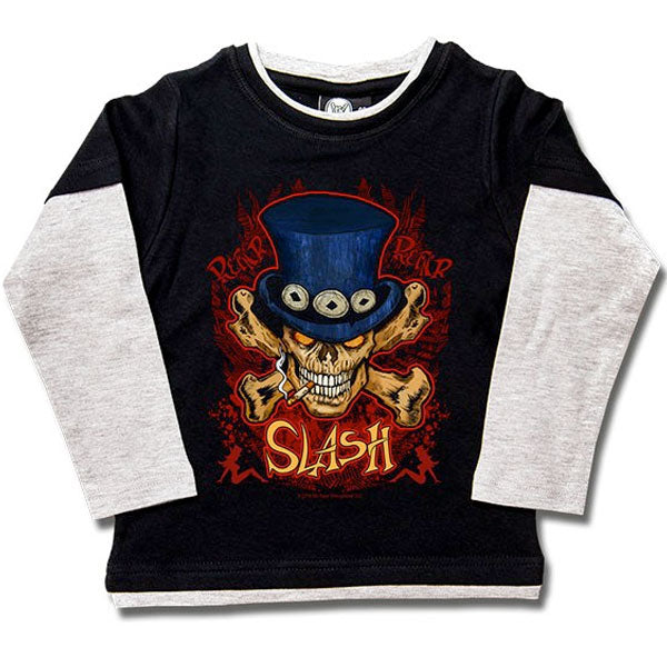 Slash Kids Long Sleeve T-Shirt - Skull and Crossbones