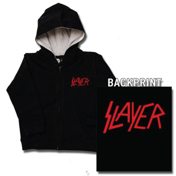Slayer Baby Hoody Logo - Black/Red