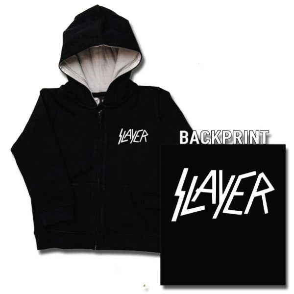 Slayer Baby Hoody Logo - Black/White